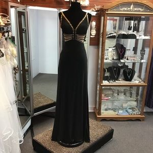 Sherri Hill 51696 size 0 in black/gold